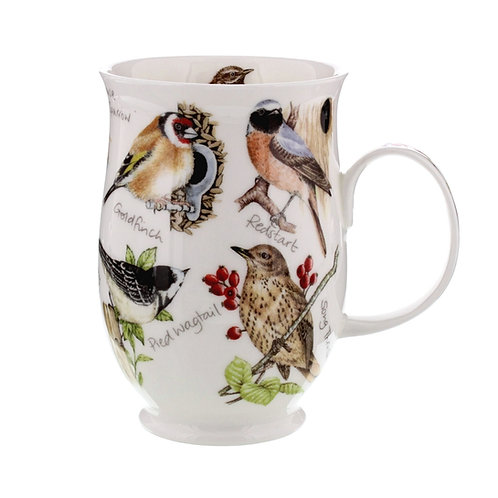 Suffolk Goldfinch coffee mug and tea cup- Dunoon fine English bone china