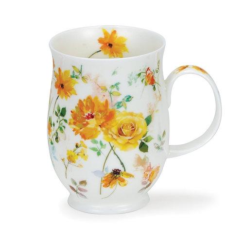 Suffolk Floral Harmony Yellow Coffee and Tea Mug- Dunoon fine English bone china