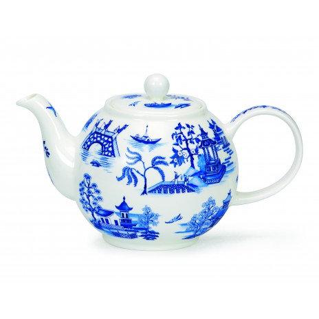 Oriental Blue Teapot- Dunoon fine English bone china