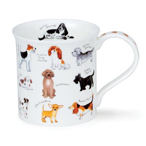 Bute Animal Breeds - Dog - Coffee and Tea Mug- Dunoon fine English bone china