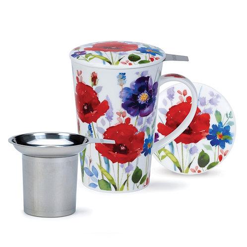 Shetland Wild Garden Coffee and Tea Mug- Dunoon fine English bone china