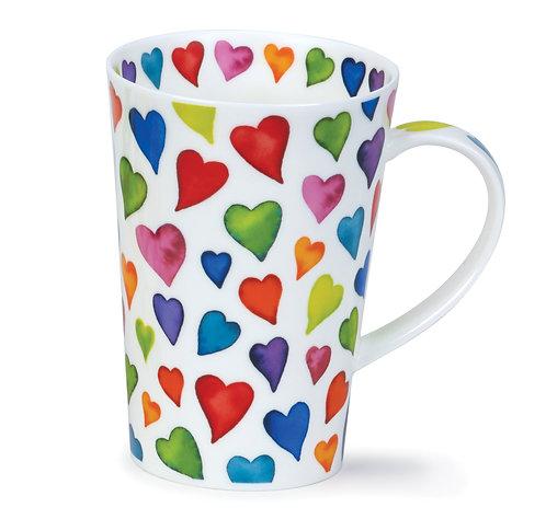 Shetland Warm Hearts Coffee and Tea Mug- Dunoon fine English bone china