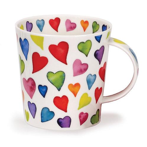 Cairngorm Warm Hearts Coffee and Tea Mug- Dunoon fine English bone china
