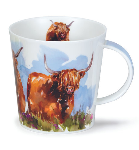 Cairngorm Highland Cows- Dunoon fine English bone china