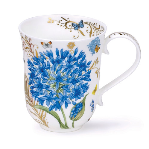 Braemar Vintage Blue with Gold - Dunoon fine English bone china