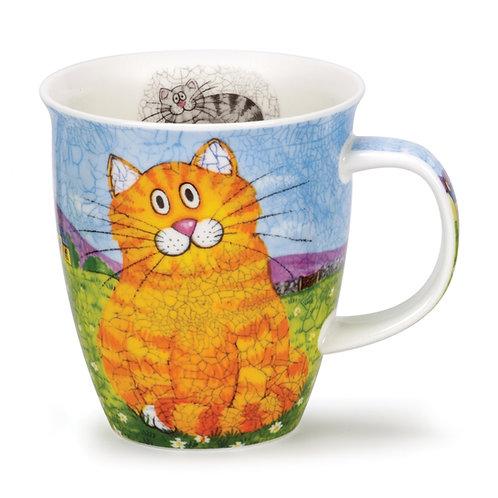 Nevis Happy Cats - Ginger Coffee and Tea Mug- Dunoon fine English bone china