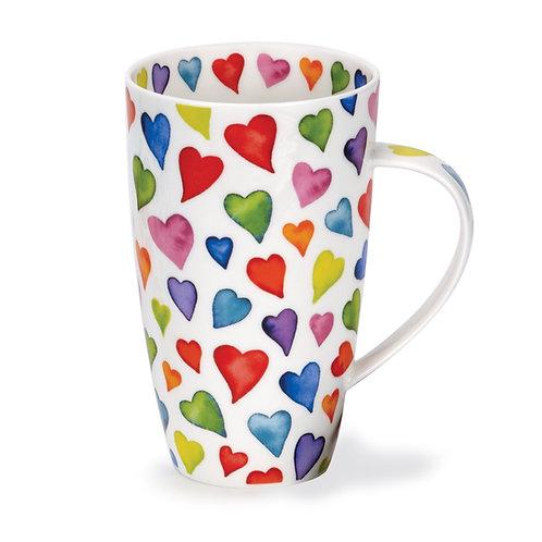 Henley Warm Hearts Coffee and Tea Mug- Dunoon fine English bone china