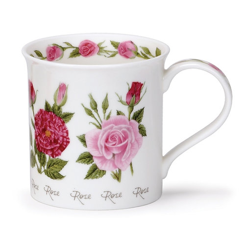 Bute Summer Flowers - Roses Coffee and Tea Mug- Dunoon fine English bone china
