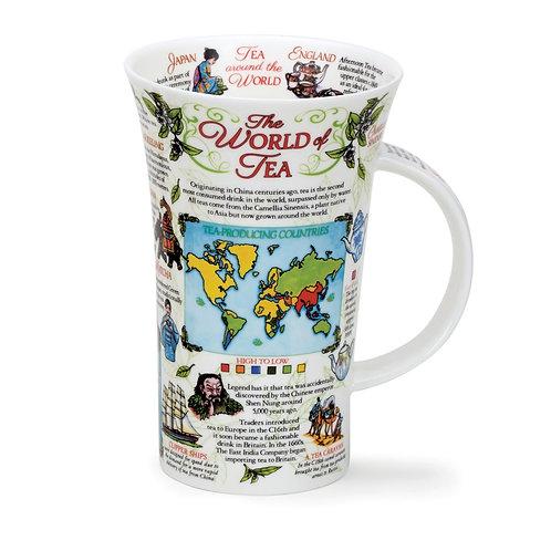 Glencoe World of Tea Coffee and Tea Mug- Dunoon fine English bone china