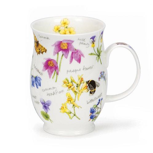 Suffolk Wayside Pasque Coffee and Tea Mug- Dunoon fine English bone china