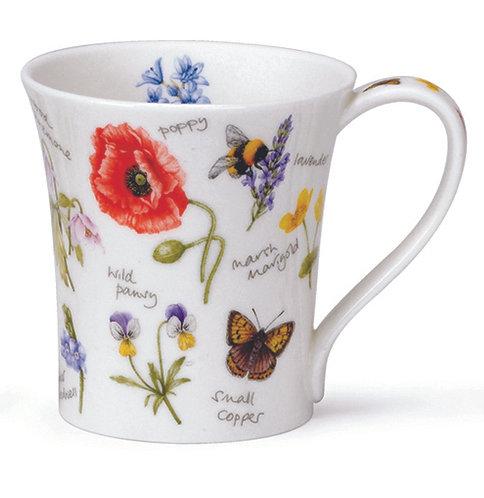 Jura Wayside Poppy Coffee and Tea Mug- Dunoon fine English bone china