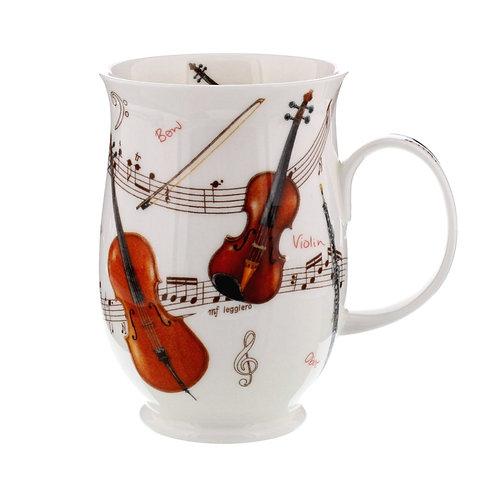 Suffolk Instrumental Violin coffee mug and tea cup- Dunoon fine English bone china