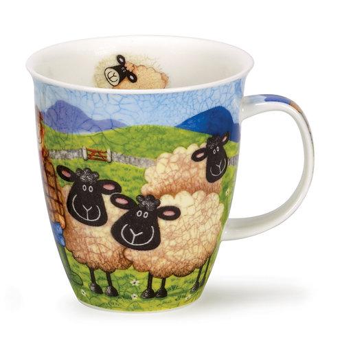 Nevis Sheep in Pasture Coffee and Tea Mug- Dunoon fine English bone china