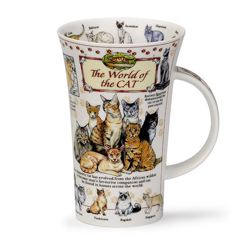 Glencoe World of the Cat Coffee and Tea Mug- Dunoon fine English bone china