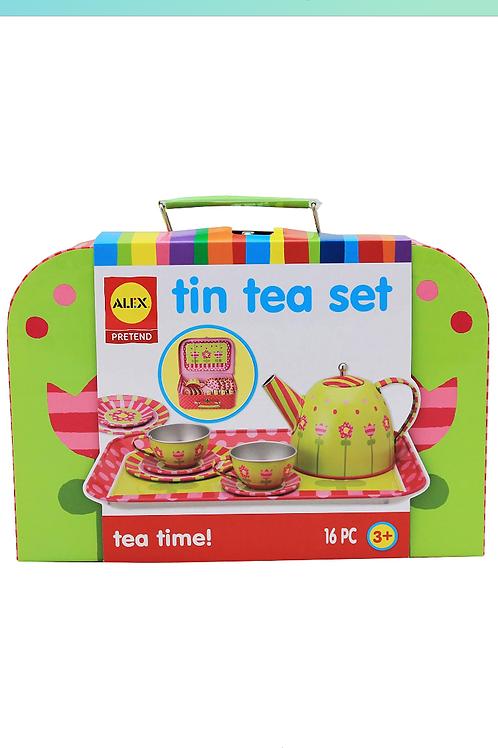 Children's Toy Tea Set - Tin
