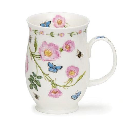 Suffolk Floral Lane - Dog Rose- Coffee and Tea Mug- Dunoon fine English bone china