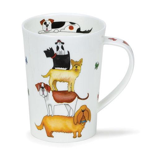 Argyll High Rise Dog Coffee and Tea Mug- Dunoon fine English bone china