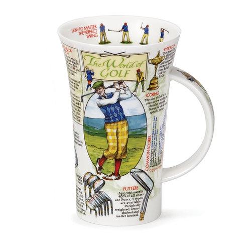 Glencoe World of Golf Coffee and Tea Mug- Dunoon fine English bone china