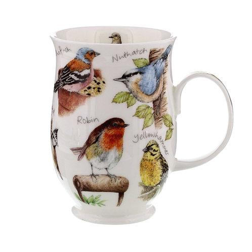 Suffolk Robbin coffee mug and tea cup- Dunoon fine English bone china