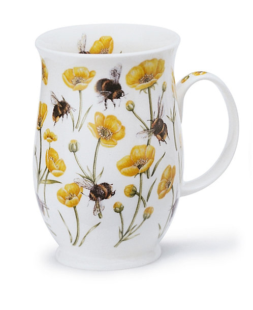 Suffolk Dovedale Buttercup coffee mug and tea cup- Dunoon fine English bone china