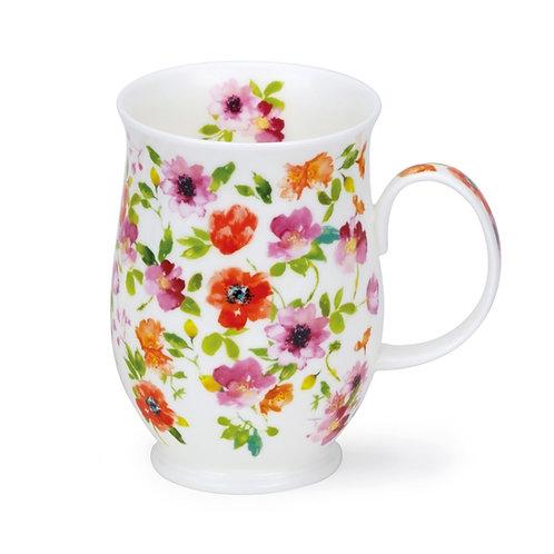 Suffolk Fleurs - Red - Dunoon fine English bone china