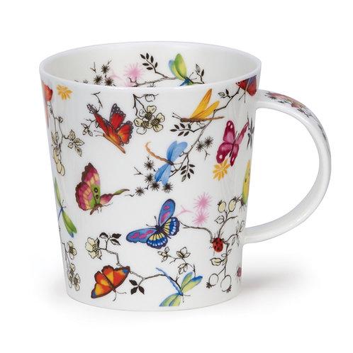 Lomond Paradise Butterfly Coffee and Tea Mug- Dunoon fine English bone china