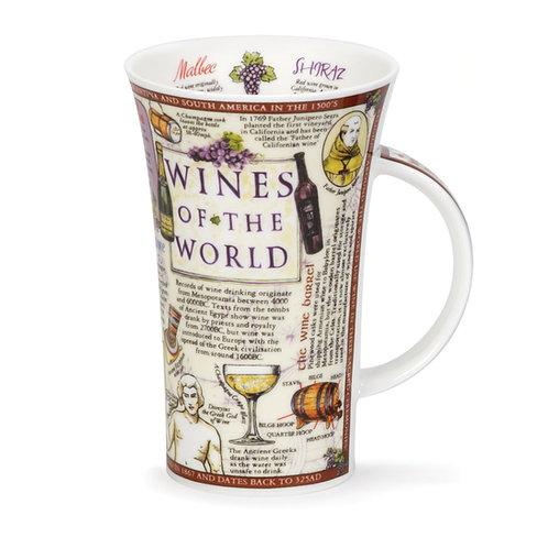 Glencoe Wines of the World Coffee and Tea Mug- Dunoon fine English bone china