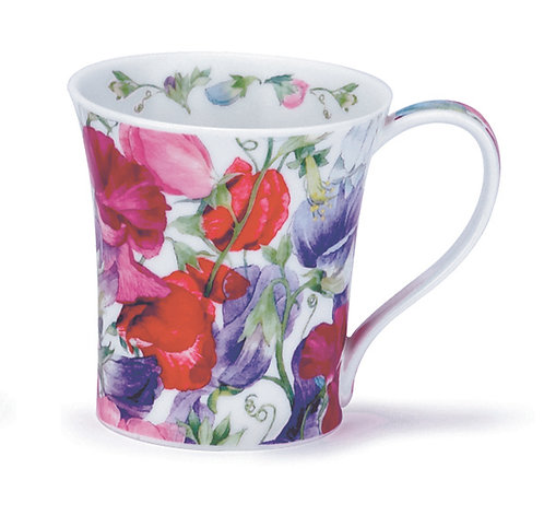 Jura Sweet Peas Coffee and Tea Mug- Dunoon fine English bone china