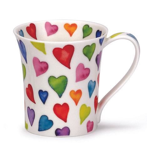 Jura Warm Hearts Coffee and Tea Mug- Dunoon fine English bone china