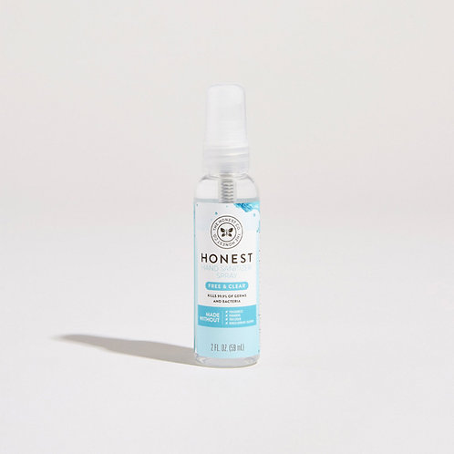 Honest Company Hand Sanitizer Spray, Free and Clear Scent 2 oz