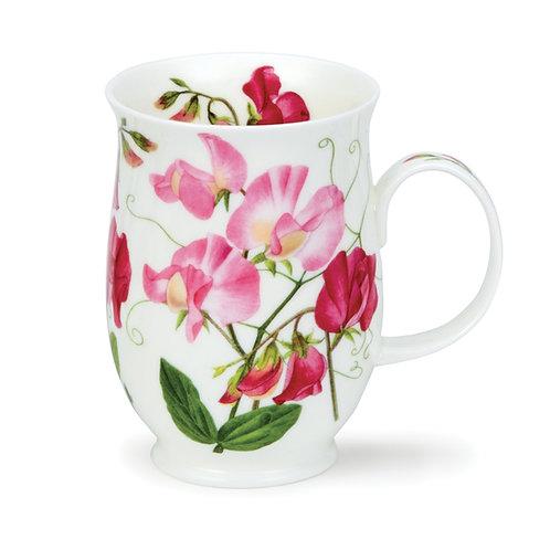 Suffolk Sweet Peas Light Pink Coffee and Tea Mug- Dunoon fine English bone china