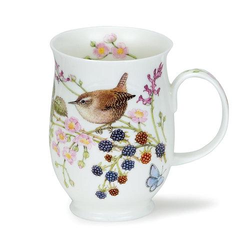 Suffolk Hedgerow Birds Wren Coffee and Tea Mug- Dunoon fine English bone china