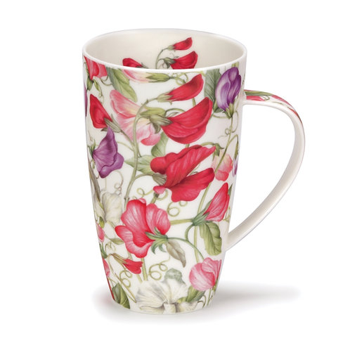 Henley Sweet Peas Coffee and Tea Mug- Dunoon fine English bone china