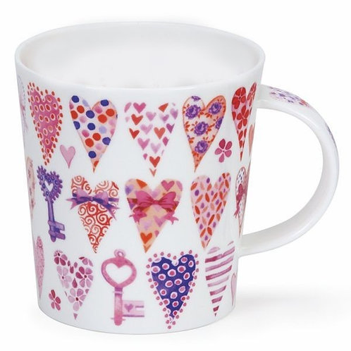 Lomond Hearts Pink - Dunoon fine English bone china