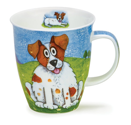 Nevis Happy Dogs Jack Russell- Dunoon fine English bone china