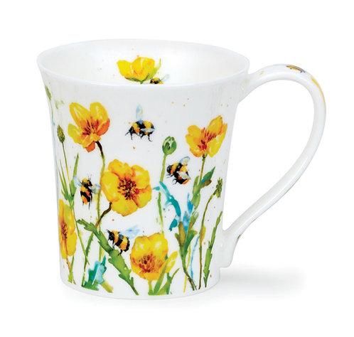 Jura Busy Bees - Buttercup - Coffee and Tea Mug- Dunoon fine English bone china