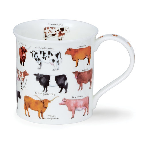 Bute Animal Breeds - Cow - Coffee and Tea Mug- Dunoon fine English bone china