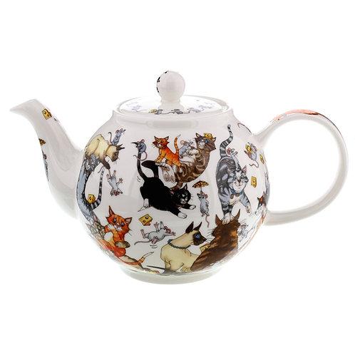 Pussy Galore Teapot Wayside Teapot - Dunoon fine English bone china