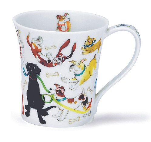 Jura Dogs Galore - Coffee and Tea Mug- Dunoon fine English bone china