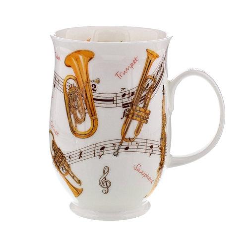 Suffolk Instrumental Trumpets coffee mug and tea cup- Dunoon fine English bone china