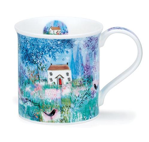 Bute Enchanted Cottage - Blackbird- Dunoon fine English bone china