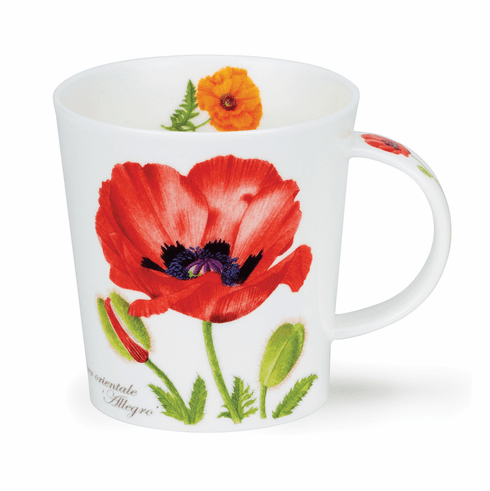 Lomond Botania - Poppy Coffee and Tea Mug- Dunoon fine English bone china