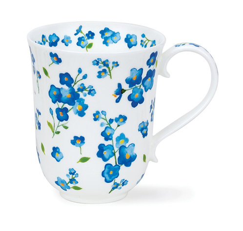 Braemar Petit Fleurs Blue - Dunoon fine English bone china