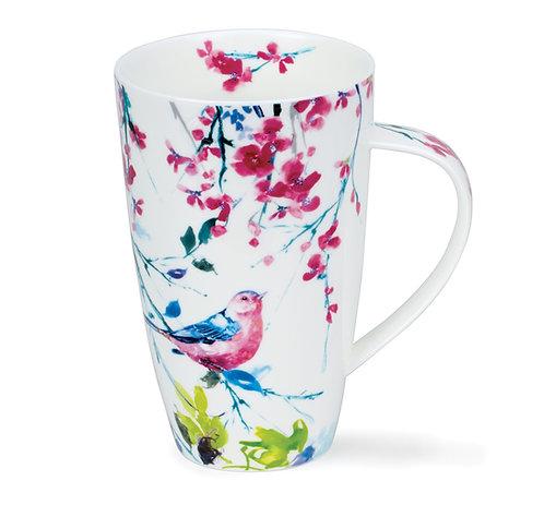Henley Birdsong Pink Coffee and Tea Mug- Dunoon fine English bone china