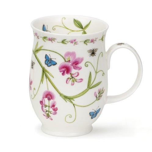 Suffolk Floral Lane - Sweet Peas- Coffee and Tea Mug- Dunoon fine English bone china