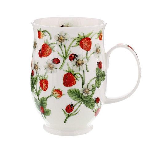 Suffolk Dovedale Strawberries coffee mug and tea cup- Dunoon fine English bone china