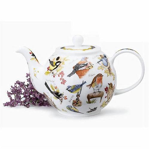 Birdlife Teapot- Dunoon fine English bone china