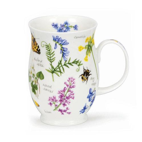 Suffolk Wayside Vetch Coffee and Tea Mug- Dunoon fine English bone china