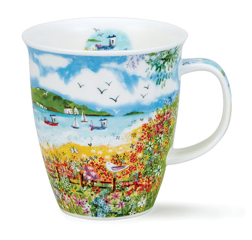 Nevis Coastal View Garden- Dunoon fine English bone china