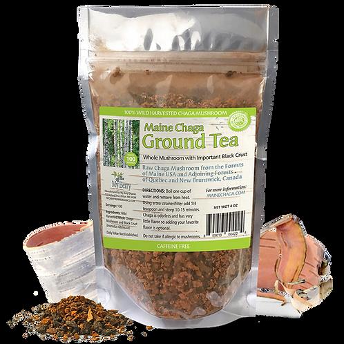 Maine Chaga Ground Tea 4 oz